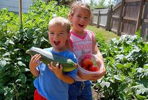 Children and tomatoes