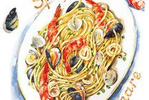 Pasta Illustration