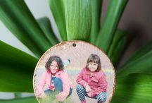 Bijuterii lemn / bijuterii lem, pandante,cercei, brelocuri din lemn decorate manual cu poze sau imagini