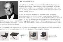 Bauhaus Designer - L.M. van der Rohe / Ludwig Mies van der Rohe wurde in Aachen geboren. Nach seiner Ausbildung als Baumeister arbeitete er als Zeichner von Stuckornamenten bei einem Aachener Architekten.◥◣◥◣◥◣ Ludwig Mies van der Rohe was born in Aachen. After his training as an architect, he worked as a draftsman of stucco ornaments at an Aachen architect office.