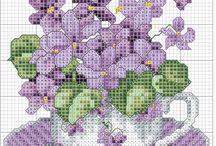 virágos keresztszemesek