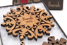 Custom Snowflake Ornaments / Nestled Pines Custom Snowflake Ornaments can be customized with any name and date you like.  Each box comes ready to gift and includes two free mini snowflakes!