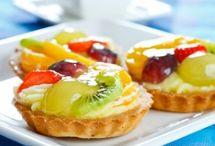 tartaletas de frutas.