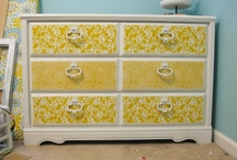Decoupage - Household / Decoupage household item ideas and patterns / by Amanda Haggerty