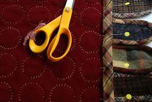 Felt wool penny rugs