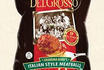 """Grandma Murf's Italian Style Meatballs / Mafalda """"Murf"""" DelGrosso created her recipe for succulent, baked meatballs in the 1940's for hungry guests of DelGrosso's Café in Altoona, PA. Generations later, we haven't changed a thing, and we're sure you'll thank us for it. All meatballs are not created equal. Murf's all-natural recipe stands alone as the premier, Italian Style Meatball."""