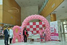 Breast Cancer Awareness drive at university Hospital Sharjah / University Hospital Sharjah organized Breast Cancer Awareness drive in the hospital to bring cancer awareness to the forefront of the community, to educate the public about cancer and to highlight the importance of early detection.