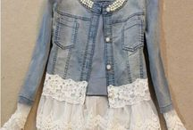 denim jackets with lace