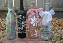 WINE BOTTLE/JAR CRAFTS / things to do with wine bottles, jars, etc.
