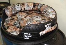 Camas de cachorro/pneu