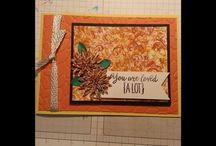 smack down or thumping tecnique card using stampin up products