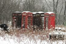 old telephones and booths