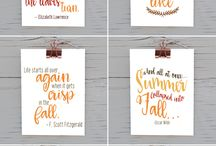 fall/christmas printables