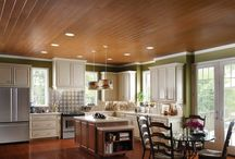 wood ceilings and walls