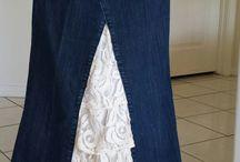 jeansrock aus einer Hose