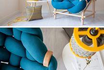 Diese Möbelkollektion Macht Gebrauch Von Verschiedenen Strick- Und Webtechniken