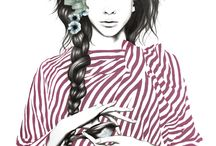 Female fashion illustrations