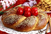 Happy #Greek #Orthodox #Easter! / Happy Greek Orthodox Easter! Happy Easter!  #Tsoureki #bread and #Koulouria (#Easter #cookies) are a must these days!