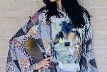 Bohemian Inspired Fashion Buy online!! Only two of our light Debra blue bell sleeve duster left!  #bohoqueen