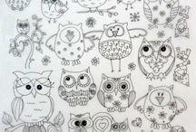 DOODLES - OWLS