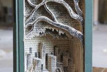 Altered books & diorama's