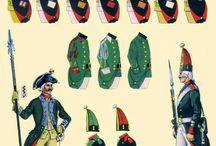 Russian uniforms 17-19 century