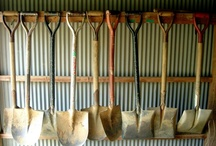 Garden tool storage ideas / This super popular board gets all your garden shit together.