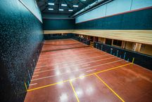 Court Tennis Court / The centuries old game of court tennis, the original game of racquet and ball, is played on an unusual court of high-strength plaster surfaces, wood roof penthouses and specific window openings lined in netting. Currently, there are 11 active courts …