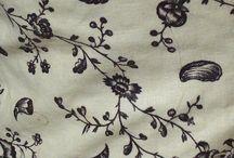 18th century: Fabrics / Examples of 18th century fabrics.