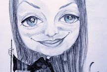 Karykatury na zamówienie oraz na weselu lub innym wydarzeniu:-) / Maluję wszelkiego typu obrazy na zamówienie ,gdzie rozmiar, tematyka oraz technika zależą od Państwa życzenia.