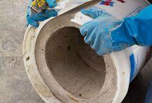vasos de cimento