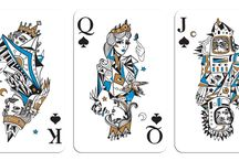 Playing cards / Spades hearts diamonds clubs kings queens jokers