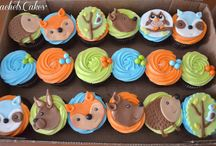 woodlands forest cupcakes