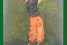 Golf / Pintura en acuarela del artista y profesor de Tennis José María Díaz