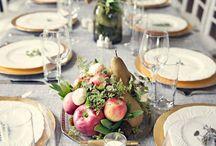 Mesas con frutas
