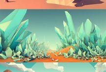 landscape low poly