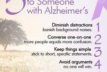Dementia: Info & Activities, / Various info's, quotes, poems, activities.
