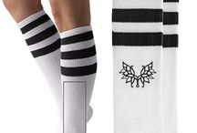 %__Knee High Socks__% / These sporty socks from American Apparel are perfect for everyday use. Wear them for your next sports game or lounging around the house. Via CustomizedGirl.com
