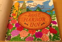 Debbie Macomber Come Home to Color Coloring Book Board / Pictures of this lovely coloring book that I have colored in.