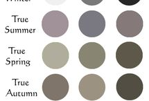 Colour analysis -the basics / Today's lesson is abuout finding the untertone of the skin, and choosing a basic season type for ourselves.