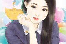 Asian Beauty Illustration