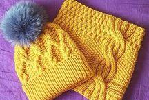 Вязание головные уборы, шарфы