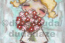 Diane Duda / Fantastiska konstverk av konstnären Diane Duda!