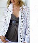 palton alb crosetat
