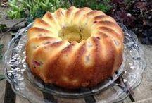 Rhabarber Topfkuchen mit Buttermilch