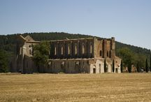 San Galgano : spirituality and strength / We'll leave for the spectacular San Galgano Abbey and the Montesiepi Hermitage, where one can see Saint Galgano's sword thrust deep into the rock.