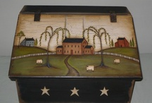 Wood painted breadboxesbreadboxes