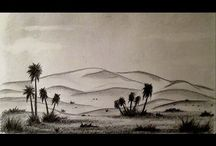 paisaje en blanco y negro