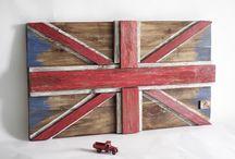 """Панно """"Британский флаг""""  стиль лофт / Picture of the British flag"""