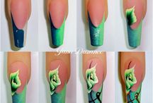 One stroke painting-nails